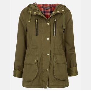 Topshop 'Talbot' Elbow Patch Parka utility jacket